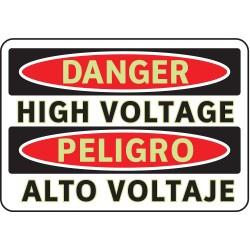 Brady - 102488 - Electrical Hazard, Danger/Peligro, Aluminum, 7 x 10, With Mounting Holes, Diamond