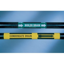 Brady - 7219-1HV - Pipe Marker, Potable Water, Gn, 8 In orGrtr
