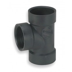 Mueller Industries - 03413 - 1-1/2 Flush Cleanout Tee, Hub x Hub x FNPT Fitting Connection Type