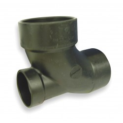 Mueller Industries - 03026 - 3 x 3 x 2 90 Elbow with Low Heel Inlet, Hub x Spigot x Hub Fitting Connection Type
