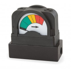 Mid-West Instrument - 555A-15.0 - 1/4 FNPT Differential Pressure Indicator Dial, 0 to 15 psi, Glass Filled Nylon