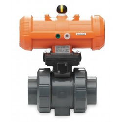 GF Piping Systems - 199233067 - 1-1/2 Spring Return - Fail Close Pneumatic Actuated Ball Valve, 2-Piece