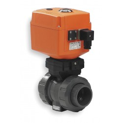 GF Piping Systems - 199107204 - PVC Electronic Actuated Ball Valve, 3/4 Pipe Size, 100-230VAC Voltage