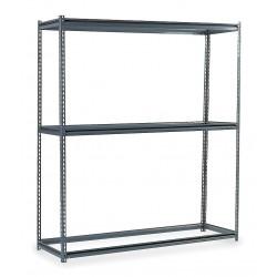 Edsal - BSR107 - 96 x 24 x 84 Steel Boltless Shelving Starter Unit, Gray; Number of Shelves: 3