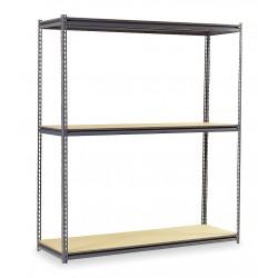 Edsal - BSR112 - 60 x 36 x 84 Steel Boltless Shelving Starter Unit, Gray; Number of Shelves: 3