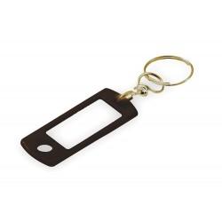 Lucky Line - 16830 - 7/8 x 2 Clear Plastic Insert Swivel Ring Key Tag, Blue; PK50