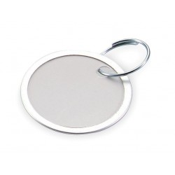 Lucky Line - 28225 - 1-1/4 x 1-1/4 Paper Metal-Rimmed Ring Key Tag, White; PK25