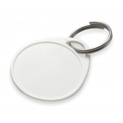 Lucky Line - 28329 - 1-1/4 x 1-1/4 Water-Resistant Key Tag, White; PK25
