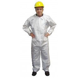 International Enviroguard - 4012-M - Collared Disposable Coveralls with Elastic Cuff, White, M, BodyFilter 95+