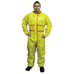 International Enviroguard - 7012YT-2XL - Collared Chemical Resistant Coveralls with Elastic Cuff, Yellow, 2XL, Chemsplash 1