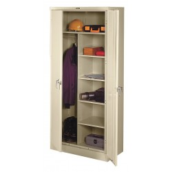 Tennsco - 1872PY - Storage Cabinet, Champagne/Putty, 78 Overall Height, Unassembled