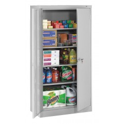 Tennsco - 7218LGY - Storage Cabinet, Light Gray, 72 Overall Height, Assembled