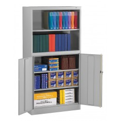 Tennsco - BCD18-72LGY - Bookcase Storage Cabinet, Light Gray