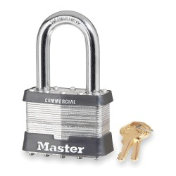 "Master Lock - 15LH - Keyed Padlock, Different, 2-1/2""W"