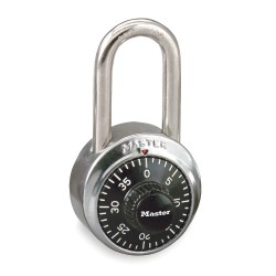 "Master Lock - 1500LF - Combination Padlock Front-Dial Location, 1-1/2"" Shackle Height"