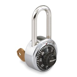 "Master Lock - 1525LF - Combination Padlock Front-Dial Location, 1-1/2"" Shackle Height"