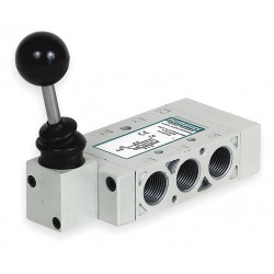 Numatics - L23LA552O000000 - 3/8 Manual Air Control Valve with 4-Way, 3-Position Air Valve Type