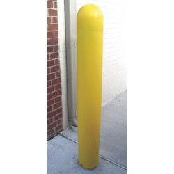 Ideal Shield - BPD-YL-6-52-S - Post Guard Post Sleeve 52X6 Yellow Ideal Shield Low Density Polyethylene Steel 9 Pound, EA