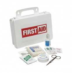 Medique - 740P25P - First Aid Kit, Kit, Plastic Case Material, General Purpose, 25 People Served Per Kit