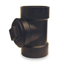 Mueller Industries - 03000 - 4 Cleanout Tee with Plug, Hub x Hub x FNPT Fitting Connection Type