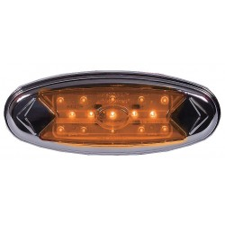 Maxxima / Panor - 3JYE5 - Clearance Light, LED, Amber, Oval, 5-7/8 L