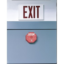 Safety Technology - 3JYW2 - Exit Door Alarm, Horn, 105dB, Red