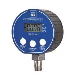 SSI Technologies - MG-50-A-MD - Pressure Gauge Digital Stainless Steel 50 Psi Ssi Technologies, EA