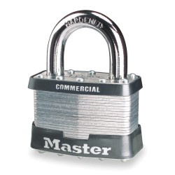 Master Lock - 3KA-3358 - Padlock 4pin Tumbler 3ka-3358 Keyed Alike .75 In Hx1 1/2 In Wx9/32 In Dia Steel Master Lock Co., Ea