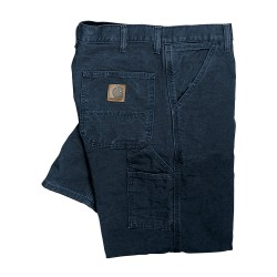 Carhartt - B11 MDT 48 32 - Work Dungaree, Cotton Duck, Color: Midnight Blue, Fits Waist Size: 48 x 32