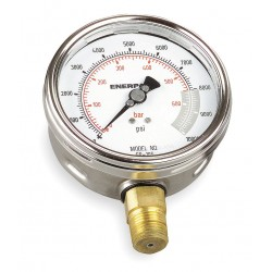 Enerpac - G4088L - 4 General Purpose Pressure Gauge, 0 to 10, 000 psi