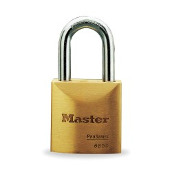 Master Lock - 6850LJ - Padlock Rekeyable 5pin 6850lj Keyed Different 2.5 In Hx2 In Wx3/8 In Dia Brass Master Lock Co., Ea