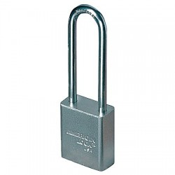American Lock - A52 - Different-Keyed Padlock, Extended Shackle Type, 3 Shackle Height, Silver