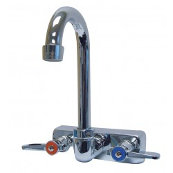 Advance Tabco - K-59 - Chrome Gooseneck Kitchen Faucet, Manual Faucet Operation, Number of Handles: 2