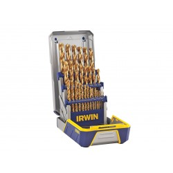 IRWIN Industrial Tool - 3018002 - Twist Drill Bit Set, 29-pc, 1/16 to 1/2In
