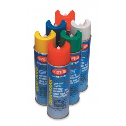 Krylon - KWBC03501 - Krylon Products Group 20 Ounce Aerosol Can APWA Orange Krylon Quick-Mark Water Based Inverted Marking Chalk