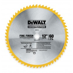 Dewalt - DW3126 - DeWALT DW3126 Series 20 Construction 12'' 60T Thin Kerf Miter/Slide Miter Finish Blade