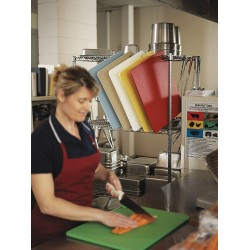 San Jamar - CB1520KC - 15 x 20 CoPolymer Cutting Board, Red, Yellow, Green, Blue, White, Brown