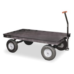 "Rubbermaid - FG9T0600BLA - Wagon Truck, 2000 lb. Load Capacity, Pneumatic Wheel Type, 16"" Wheel Diameter"