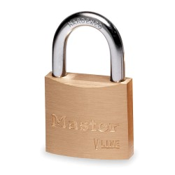 Master Lock - 4140KA 2341 - Padlock Value Line Keyed Alike 13/16 In Hx1.5 In Wx.25 In Dia Brass Master Lock Co., Ea