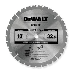 "Dewalt - DW3103 - 10"" Carbide Combination Circular Saw Blade, Number of Teeth: 32"