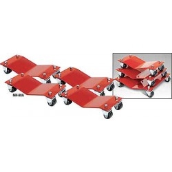 Auto Dolly - M998027 - Car Dollies, 16 x 16 In, 6000 Lb, PK4