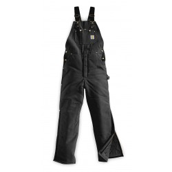 Carhartt - R03 BLK 36 36 - Men's Bib Overalls, Lining Material: 100% Arctic Quilted, Inseam: 36, Fits Waist Size: 36, Black