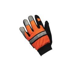 Memphis Glove - 911DPM - Leather Gloves, Split Cowhide Double Palm Palm Material, Hi-Visibility Orange, M, PR 1