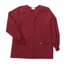 Landau Uniforms - 7525RWP SM - Warm up Jacket, S, Wine, Womens