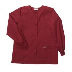 Landau Uniforms - 7525RWP SM - Warm up Jacket, S, Wine, Womens