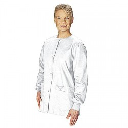 Landau Uniforms - 7525WWP XXL - Warm up Jacket, 2XL, White, Womens