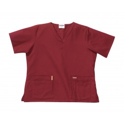 Landau Uniforms - 8219RWPXXL - Scrub Shirt, 2XL, Wine, Womens