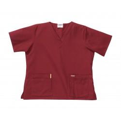 Landau Uniforms - 8219RWPXXL - Scrub Shirt, 2XL, Wine, Womens