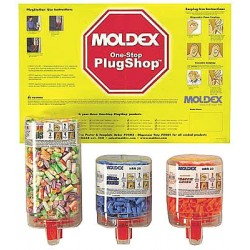 Moldex - 0604 - 33dB Disposable Bullet-Shape Ear Plugs with Dispenser&#x3b; Without Cord, Assorted, Universal