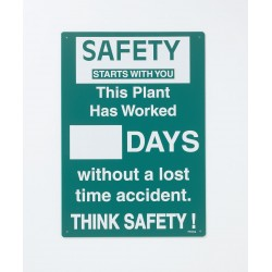 Brady - SM794E - Safety Record Signs, 20 x 14In, ENG